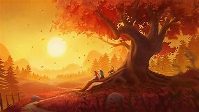 Sunset Landscape Wallpapers Couple 4k Pair Romantic