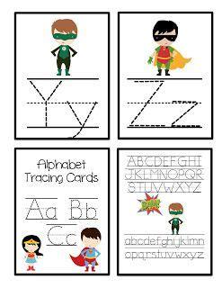 preschool printables alphabet tracing cards 450 | 9c0eb119f2e40bb54ca561d32c8d6070