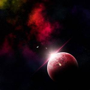 3d render of an abstract space scene with fictional ...