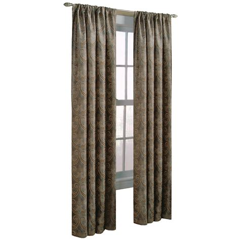 allen roth raja curtains shop allen roth raja 95 in steel polyester rod pocket