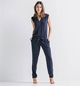 Combinaison Pantalon Femme Bleu Marine : pantalon fluide femme bleu marine fm92 jornalagora ~ Dallasstarsshop.com Idées de Décoration