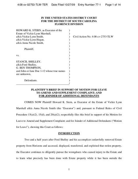 memo  support  motion  amend  add defendants