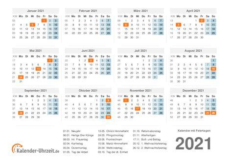 Feiertage 2021 kalender 2021 zum ausdrucken mit ferien bw. Kalender 2021 Thüringen - Kalender 2021 Bw Zum Ausdrucken : Print selv din 2021 kalender!