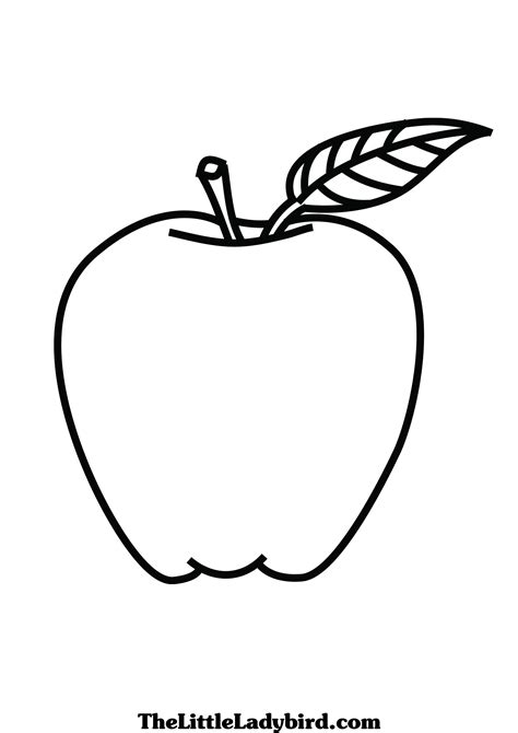43 Coloring Pages For Apples Apple Coloring Pages Free