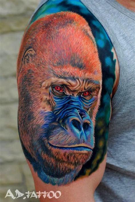 cool gorilla tattoo gorilla tattoo monkey