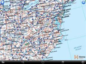 Road Map Of The East Coast MAP - Road map of eastern us