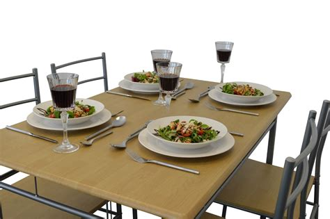 5 Piece Kitchen Dining Room Table & Chairs Furniture Set