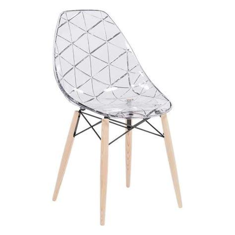 chaise design bois naturel chaise design coque transparente et bois naturel prisma 4 pieds tables chaises et tabourets