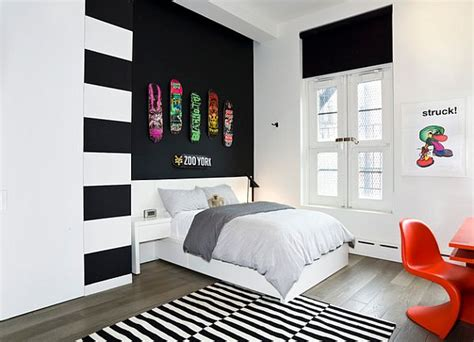 black and white bedroom with a pop of color trendy teen rooms design ideas and inspiration 21310