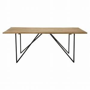 Table En Manguier : table de salle manger en manguier massif l 200 cm arty maisons du monde ~ Teatrodelosmanantiales.com Idées de Décoration