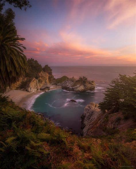 Sunrise Mcway Falls Big Sur California