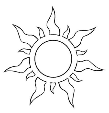 sun template sun moon on template templates and