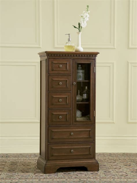 storage kitchen cabinet traditional cherry wood bath curio storage cabinet 2561