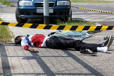 Man Died In A Car Accident Stock Image Image Of Blood