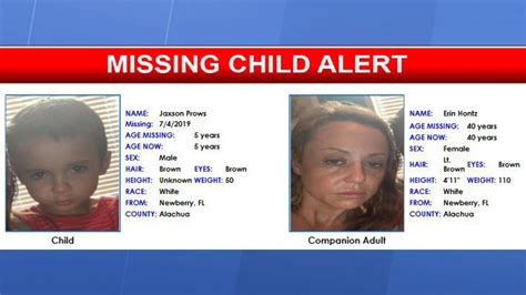 missing child alert issued alachua county year