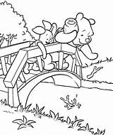 Coloring Pooh Piglet Stream Test sketch template
