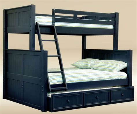 Bunk Beds With Trundle And Storage by New Cottage Navy Blue Birch Wood Bunk Bed W