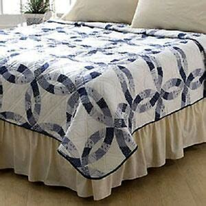 queen size wedding ring quilt pattern blue wedding ring pattern quilt valentines anniversary gift full queen size 86 quot ebay