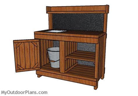 potting bench  sink plans myoutdoorplans