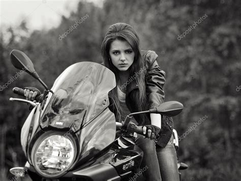 Biker With Dangerous Look With A Speed Motorbike,bike