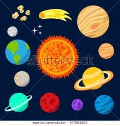 Vector Set Celestial Bodies Planets Solar Stock Vector ...