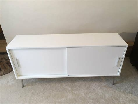 Torsby Sideboard by White Gloss Sideboard Storage Cabinet With Shelves And