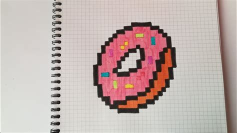 Pixel Art Nourriture Donuts