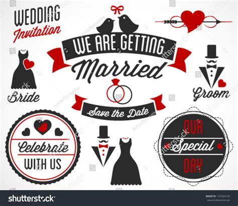 married vector badges labels stock vector
