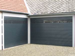 porte de garage enroulable ou sectionnelle aluminium avec With porte de garage enroulable et porte interieur simple