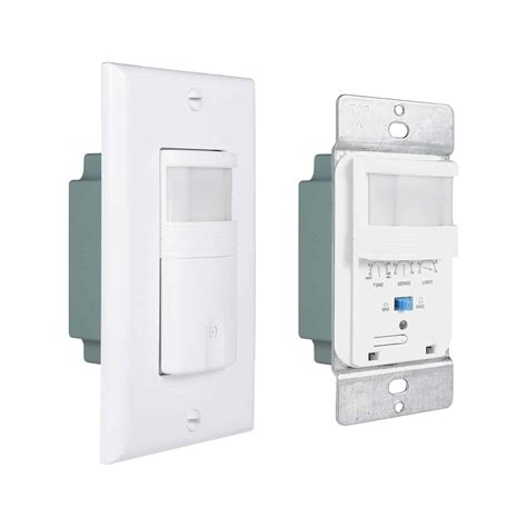 Single Pole White Indoor Motion Sensor Light Switch