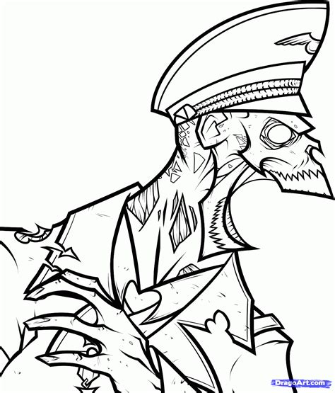 zombie coloring pages 28895 bestofcoloring com