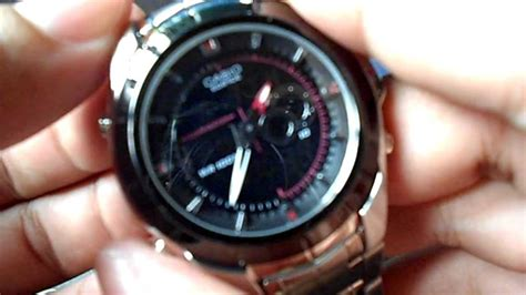Casio Edifice Efa119bk1avdr Youtube
