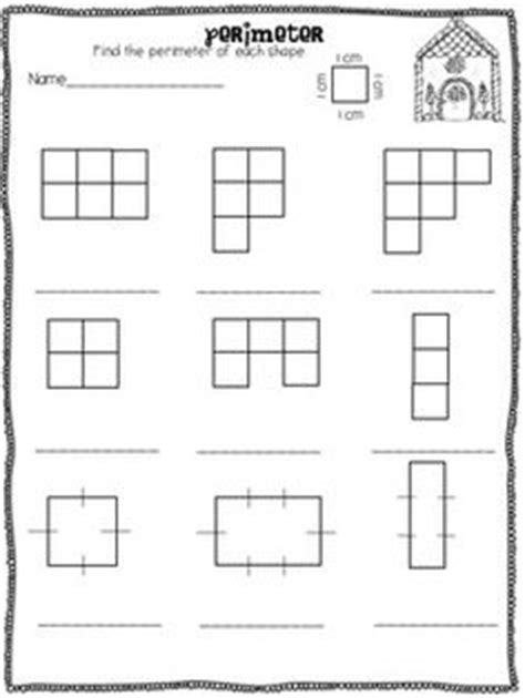 perimeter  area math worksheet teaching freebies