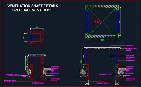 Kitchen Ventilation Ideas - ventilation shaft detail over basement roof plan n design