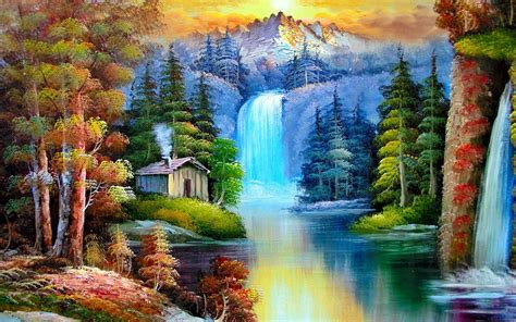 Nature Painting Wallpaper by Abstract Painting Nature Wallpapers Places To Visit