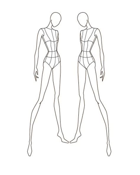fashion templates the gallery for gt fashion figure templates front and back