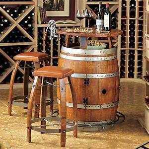 Vintage Oak Wine Barrel Turned Home Bar Adds A Touch Of