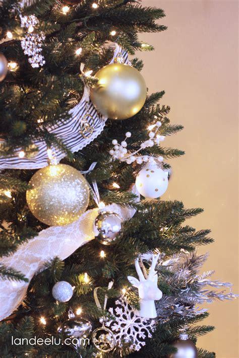 metallic neutral christmas tree decorations landeelucom