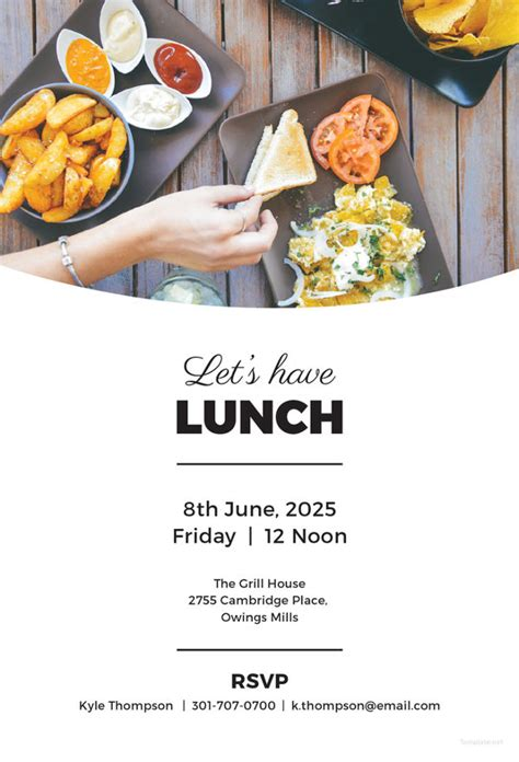 lunch invitation template   psd  documents