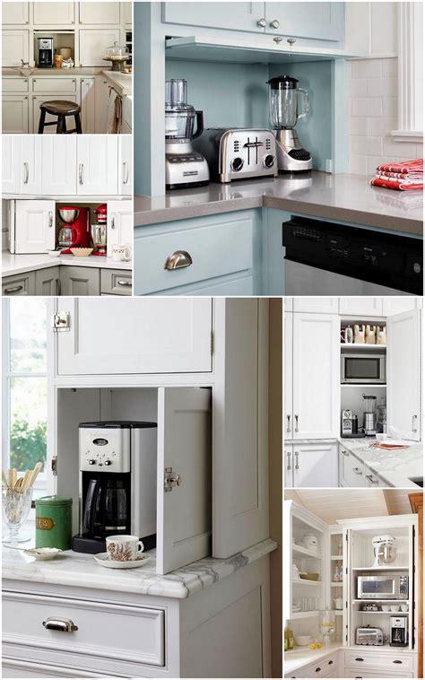 ideal kitchen appliance storage  simply  annie