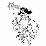 Coloring Pages Pirate Pirates Captain Blackbeard Hook Toddlers sketch template