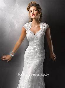 sexy sheath cap sleeves vintage lace wedding dresses with With wedding dresses with cap sleeves and open back