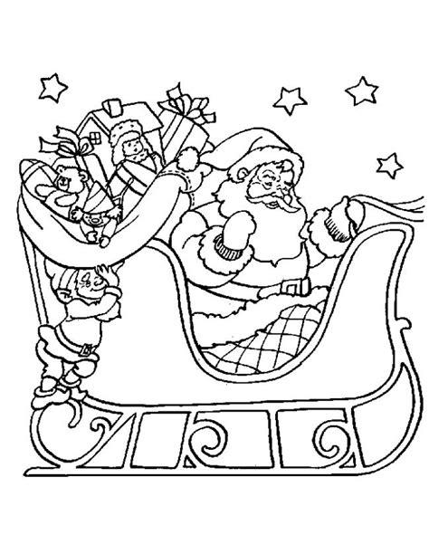 Kleurplaat Arreslee by Kleuren Nu Kerstman Op De Arreslee Kleurplaten