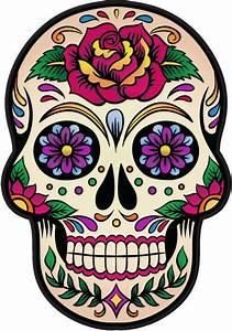 Tete De Mort Mexicaine Femme : sticker tete de mort mexicaine recherche google art ~ Melissatoandfro.com Idées de Décoration