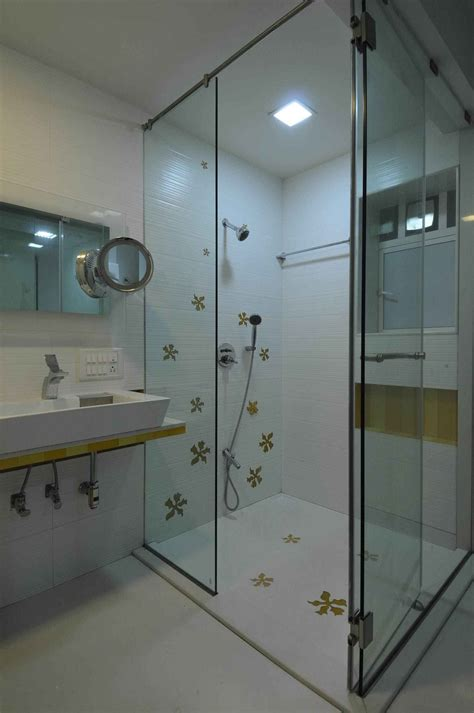 Modern Bathroom Design In India bathroom with shower enclosure design by sonali shah