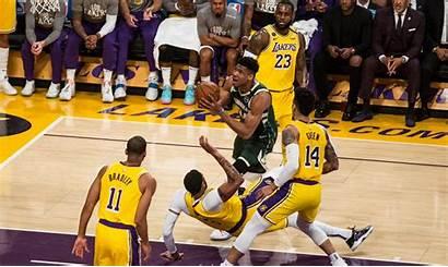 Lakers Bucks Giannis Antetokounmpo Los Lebron Davis