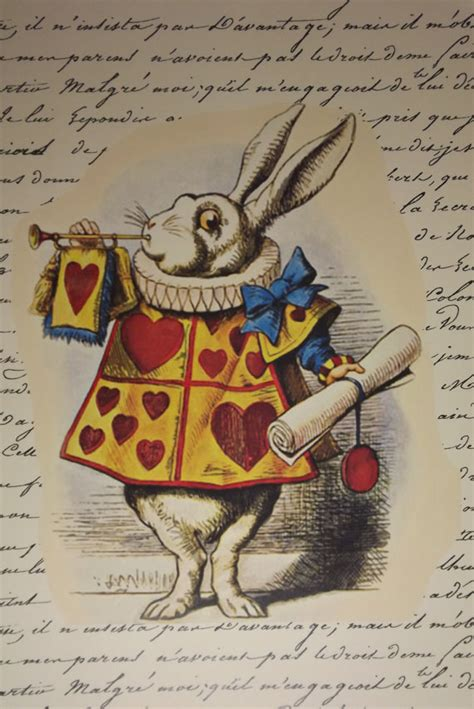 alice  wonderland poster illustration art vintage