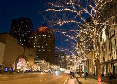 Lights Holiday Chicago Christmas Michigan Architecture Ave