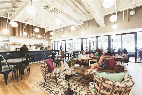 ny interior designers a tour of wework s cool santa coworking space