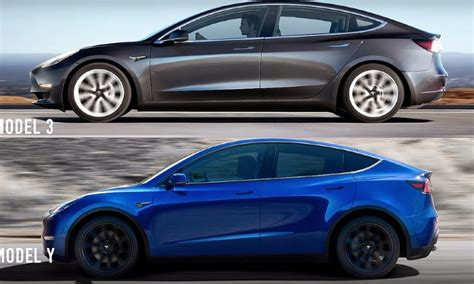 View Tesla 3 Blue Side By Side PNG